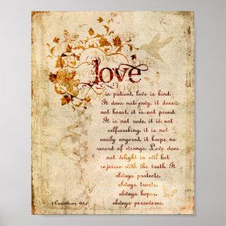 De Liefde van KRW is het Geduldige Corinthians Pos Poster