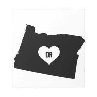 De Liefde van Oregon Notitieblok