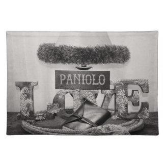De Liefde van Paniolo in Zwart-wit Placemat