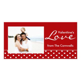 De Liefde van rood Valentijn Persoonlijke Fotokaarten