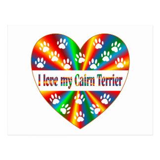 De Liefde van Terrier van de steenhoop Briefkaart