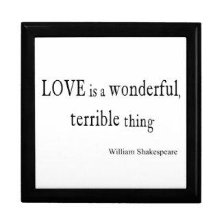 De Liefde van William Shakespeare is Prachtig en Decoratiedoosje