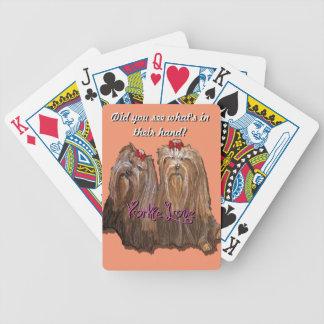 De Liefde van Yorkie - de Speelkaarten van de Bicycle Speelkaarten