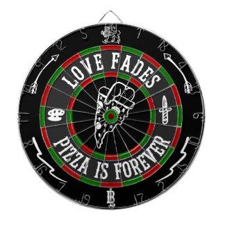 De liefde verdwijnt Dartboard langzaam Dartbord