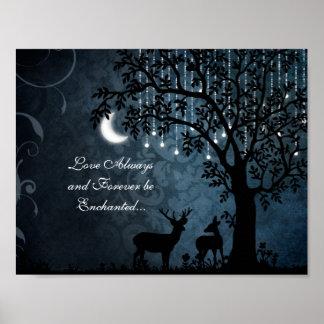 De liefde verrukte Maan, Lichten, altijd Boom en Poster