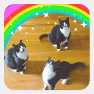 De liefde wint Stickers TuxedoTrio