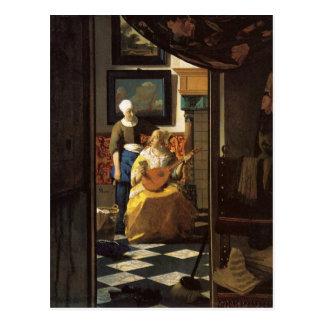 De liefdebrief van Johannes Vermeer Briefkaart
