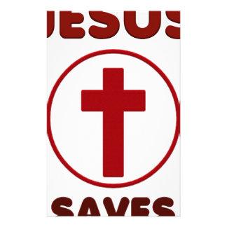 De liefdes van Jesus, de Godsdienst Cross.pn van Briefpapier