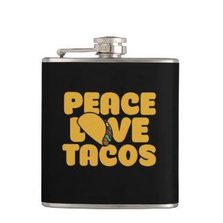 De liefdetaco's van de vrede heupfles