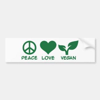 De liefdeveganist van de vrede bumpersticker