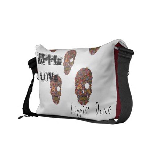 De liefdezak van de hippie postman tas