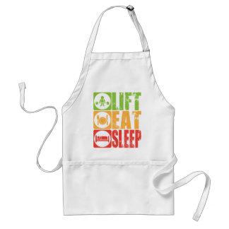 De lift, eet, Slaap Standaard Schort