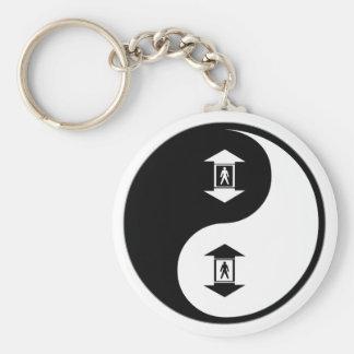 De Liften van Yang van Yin Sleutelhanger