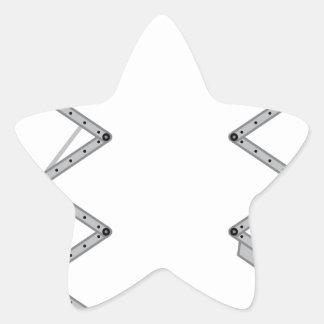 De liftvector van het pakhuis ster sticker