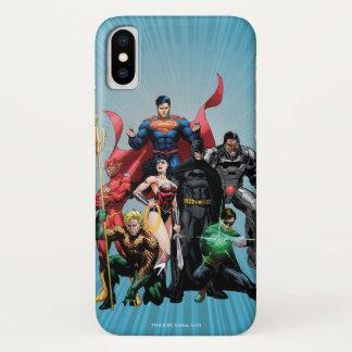 De Liga van de rechtvaardigheid - Groep 2 iPhone X Hoesje