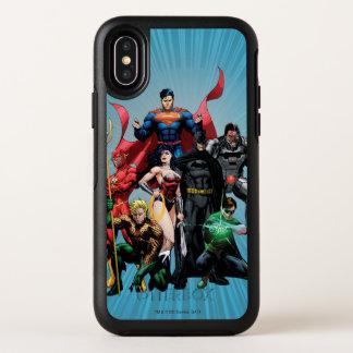 De Liga van de rechtvaardigheid - Groep 2 OtterBox Symmetry iPhone X Hoesje
