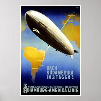 De Lijn HAPAG van Hamburg Amerika Linie Hamburg Am Poster