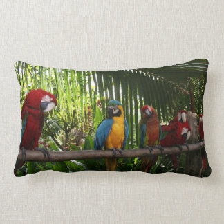 De Lijn van de papegaai Lumbar Kussen