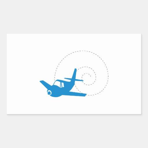 De Lijn van het vliegtuig Rechthoekvormige Stickers