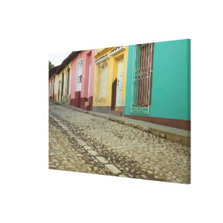De Lijn van huizen de Straat, Cuba Canvas Afdrukken