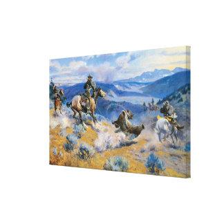 De lijnen en de Vlugge Paarden zijn Zekerder dan Canvas Afdruk