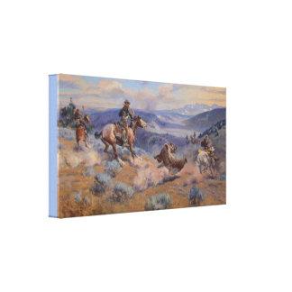 De lijnen en de Vlugge Paarden zijn Zekerder dan Canvas Print