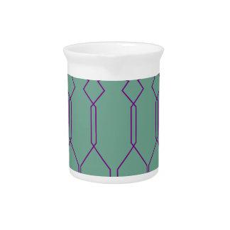 De lijnen geometrisch blauw van het ontwerp bier pitcher
