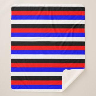 De lijnen van de vlagstrepen van Zuid-Korea kleurt Sherpa Deken