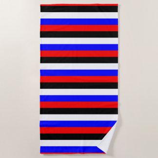 De lijnen van de vlagstrepen van Zuid-Korea kleurt Strandlaken