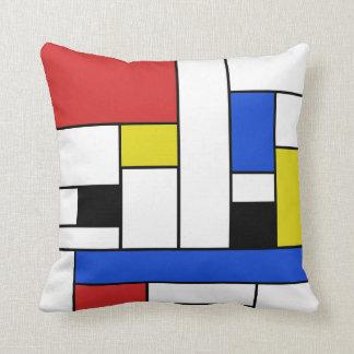 De Lijnen van Mondrian werpen Hoofdkussen Sierkussen