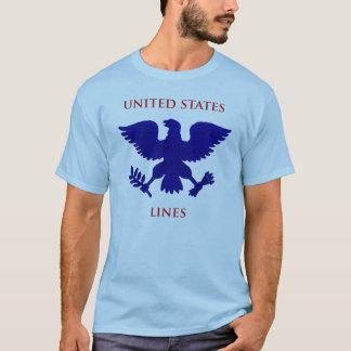 De Lijnen van Verenigde Staten T Shirt