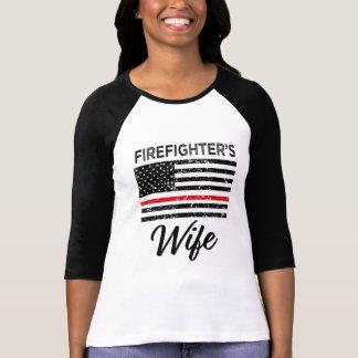 De lijnvrouwen van de Vrouw van de brandbestrijder T Shirt