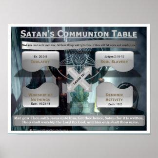 De Lijst van de Heilige Communie van de Satan Poster