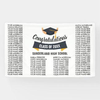 De Lijst van de Klasse 2018 van afstuderen van Spandoek