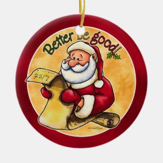 De Lijst van Kerstmis van Santas - Ornament