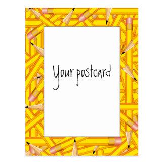 De Lijsten van potloden Briefkaart