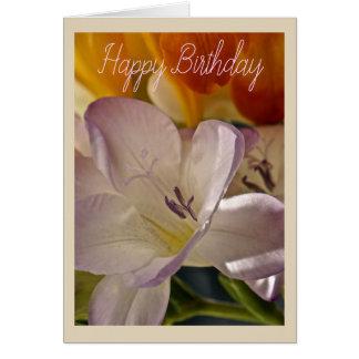 De lila en Oranje Kaart van de Verjaardag