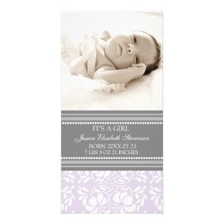 De lila Grijze Aankondiging van de Geboorte van he Fotokaart