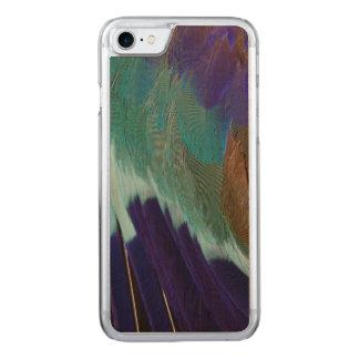 De lila veren van de Rol Breasted Carved iPhone 8/7 Hoesje