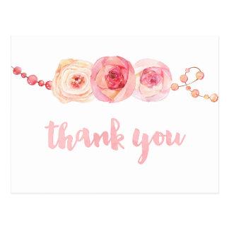 de linten en de parels danken u kaarden, dankt het briefkaart