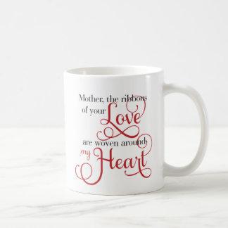 De Linten van de moeder van Liefde rond mijn foto Koffiemok