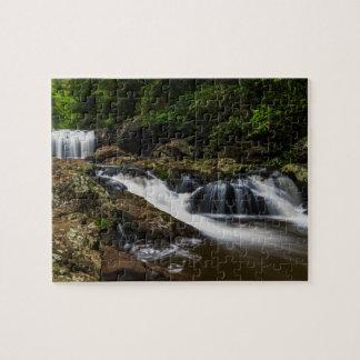 De Lip van watervallen valt Gouden Kust Australië Legpuzzel