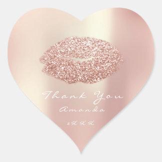 De Lippen van de kus schitteren de Make-up Hart Sticker