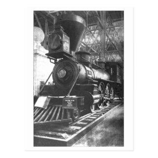 De Locomotief van de Stoom van de Spoorweg van Briefkaart