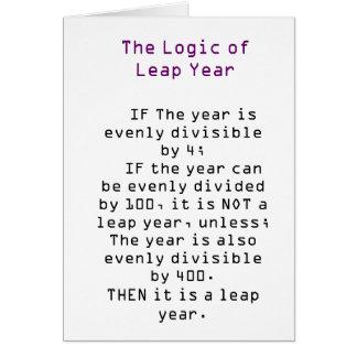 De logica van Schrikkeljaar Briefkaarten 0