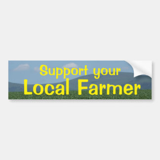 De Lokale Landbouwer van de steun Bumpersticker