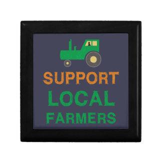 De Lokale Landbouwers van de steun Decoratiedoosje