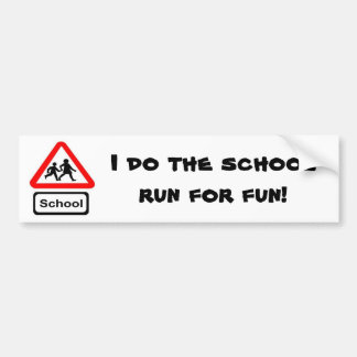 De Looppas van de school Bumpersticker
