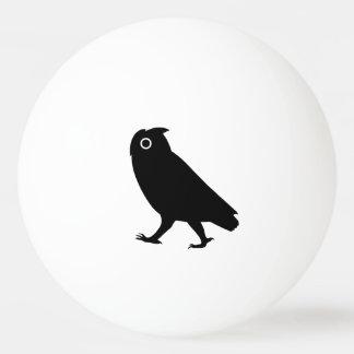 De lopende Silhouetten van de Uil Pingpongbal