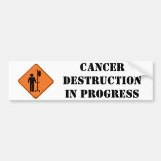 de lopende sticker van de kankervernietiging